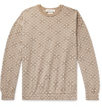 Remi Relief Oversized Floral Print Woven Sweatshirt Neutrals