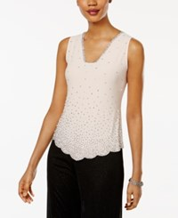 Msk Sleeveless Embellished Blouse Peach Pink
