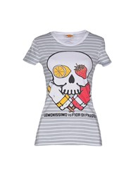 Blomor Topwear T Shirts Women Light Grey