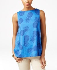 American Living Pineapple Print Sleeveless Top Only At Macy's Multi