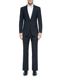 Ralph Lauren Black Label Anthony Textured Windowpane Suit Blue