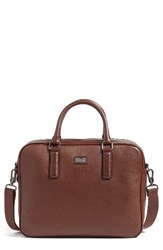 Ted Baker Men's London Leather Document Bag Brown Tan