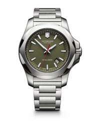 Victorinox Inox Stainless Steel Watch Olive