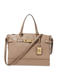 Lauren Ralph Lauren Darwin Tumbled Leather Satchel Truffle