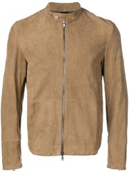 Orciani Zipped Up Jacket Brown