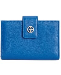 Giani Bernini Softy Leather Wallet Only At Macy's Midtone Blue