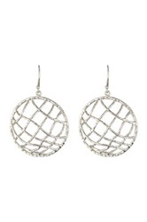 Argentovivo Sterling Silver Circle Caged Drop Earrings Metallic