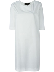 Ter Et Bantine Back Pleat Dress White
