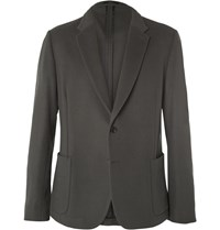 Paul Smith Khaki Soho Slim Fit Wool And Cashmere Blend Blazer Green
