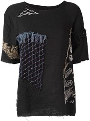 By Walid Embellished T Shirt Black