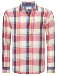 John Lewis Large Scale Check Shirt Red