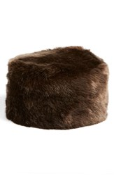 Women's Dena Faux Fur Pill Box Hat