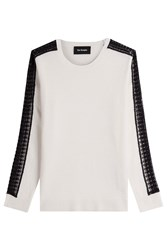 The Kooples Wool Pullover With Cashmere White