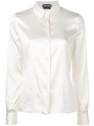 Tom Ford Pointed Collar Shirt White