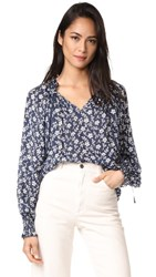 Ulla Johnson Natalia Blouse Navy