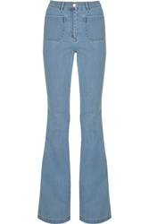 Michael Kors Collection High Rise Flared Jeans Blue