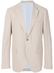 Gant By Michael Bastian Classic Two Buttoned Jacket Cotton Spandex Elastane Viscose Nude Neutrals