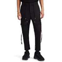 Stampd Logo Striped Cotton Twill Cargo Trousers Black