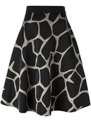 Kolor Giraffe Print Skirt Black