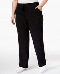 Karen Scott Plus Size Pull On Cargo Pants Only At Macy's Deep Black