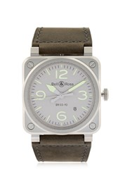 Bell And Ross Limited Edition Horolum Steel Watch Grey