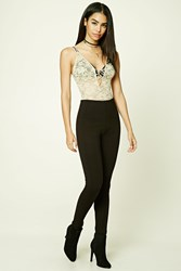 Forever 21 Slub Knit Pintuck Leggings