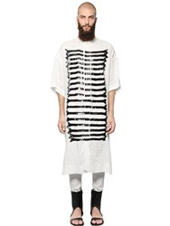 Tom Rebl Latex X Ray Linen Shirting Long Shirt