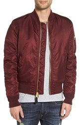 Alpha Industries Men's 'Ma 1' Slim Fit Bomber Jacket Maroon