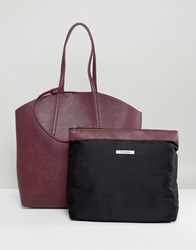 Pieces Shopper Bag With Removable Pouch Red