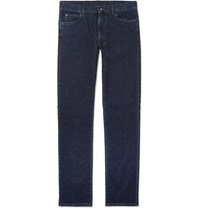 Canali Stretch Cotton And Cashmere Blend Jeans Dark Denim