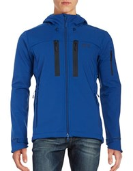 Jack Wolfskin Softshell Hooded Jacket Deep Sea