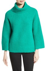 Kate Spade Women's New York Bow Back Alpaca Blend Turtleneck Sweater