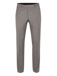 Aston And Gunn Oxenhope Tailored Sharkskin Trouser Grey