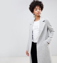 River Island Tailored Coat With Single Fastening In Gray Gray
