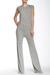 Riller And Fount Cap Sleeve Wide Legged Jumpsuit Gray