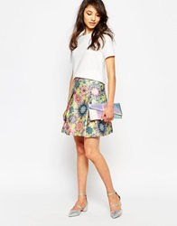 Traffic People Decadent Daisy Fontaine Skirt Greenpurple