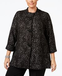Jm Collection Plus Size Boucle Jacket Only At Macy's Geo Leopard