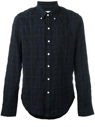 Bellerose Plaid Button Down Shirt Blue