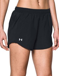 Under Armour Fly By Solid Performance Shorts Black