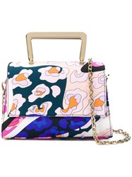 Emilio Pucci Abstract Print Tote Bag Pink And Purple