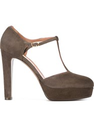 L'autre Chose Platform Pumps Brown