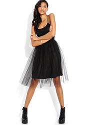 Forever 21 Ballerina Glam Tulle Dress Black