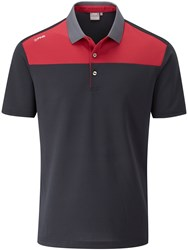 Ping Men's Drake Polo Black And Red Black And Red
