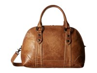 Frye Melissa Domed Satchel Beige Antique Pull Up Satchel Handbags Brown