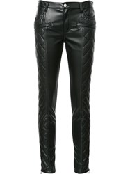 Giamba Quilted Skinny Trousers Black