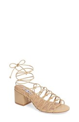 Steve Madden Women's Illie Knotted Lace Sandal Natural
