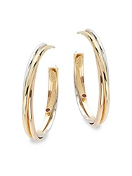 Roberto Coin Basic Gold 18K Yellow Gold Hoop Earrings 1.25In