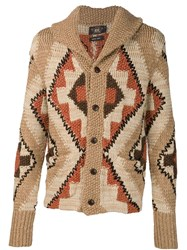 Rrl Aztec Knit Cardigan Nude And Neutrals