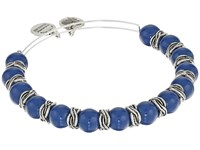 Alex And Ani Denim Independence Beaded Bangle Rafaelian Silver Bracelet