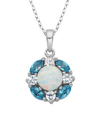 Lord And Taylor Opal Pendant Necklace Multi